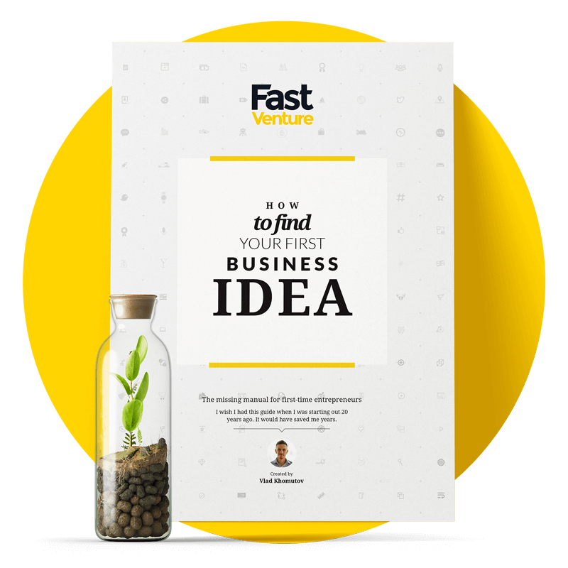 Free ebook - how to find your first business idea